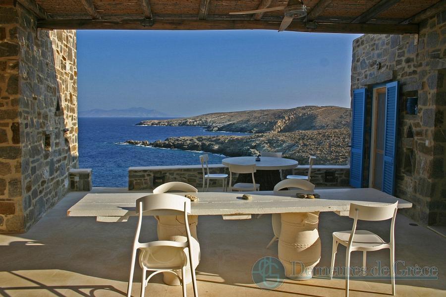 Beachfront villa for sale in Greece, Serifos island