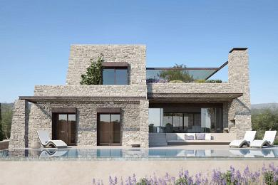 Villa de grand stanging en bordure du golf Navarina en Grece
